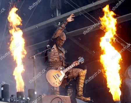 Guitarist Amen of the Finnish Rock Band Lordi Performs on Red Stage During the Nova Rock 2007 Festival in Nickelsdorf Austria 16 June 2007 Austria Nickelsdorf