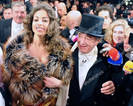 Moroccan Karima El-marough Aka Ruby Rubacuore (l) and Host Austrian Businessman Richard Lugner (r) Arrive For the Vienna State Opera Ball 2011 in Vienna Austria 03 March 2011 the Traditional Vienna Opera Ball Takes Place on 03 March Austria Vienna