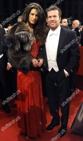 German Lothar Matthaus and Joanna Tuczynska (l) Arrive For the Opera Ball 2012 at the Vienna State Opera in Vienna Austria 16 February 2012 Austria Vienna