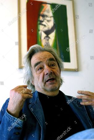 Austrian Painter Arnulf Rainer Gestures at a Press Conference on the Exhibition 'Rainer Ueber Freud Overpaintings of Sigmund Freud Portraits' in Vienna Wednesday 23 November 2006 Austria Vienna