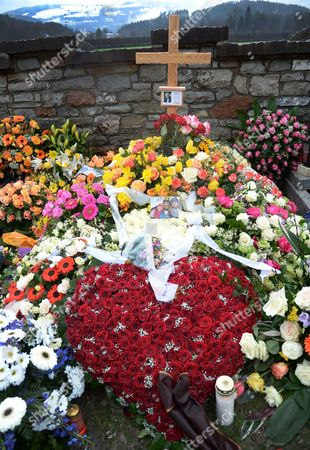 Stock Photo of A View of the Grave of Austrian-born Folk Music Presenter Karl Moik ('musikantenstadl') in Oberalm Austria 30 March 2015 Moik Died at the Age of 76 in a Hospital in Salzburg on 26 March 2015 Austria Oberalm