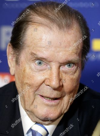 British Actor Sir Roger Moore Attends a Press Conference Prior the Gala Evening Event 'Look! Women of the Year-awards 2015' in Vienna Austria 17 November 2015 Around 700 Guests Are Expected to Attend the Event Austria Vienna