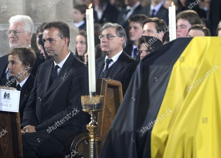 Karl Von Habsburg (3-l) is Seen During a Requiem During Otto Von Habsburg's Funeral at the Stephansdom Cathedral in Vienna Austria 16 July 2011 Otto Von Habsburg was the Oldest Son of Charles i the Last Emperor of Austria and Died at the Age of 98 on 04 July 2011 in His Home in Poecking Germany He and His Wife Regina who Died in 2010 Will Be Buried in the Kaputzinergruft (imperial Crypt) Below the Capuchin Church on 16 July in Accordance with a Habsburg Tradition His Heart Will Be Taken to the Abbey of Pannonhalma Some 50km West of Budapest Hunagry on 17 July Austria Vienna