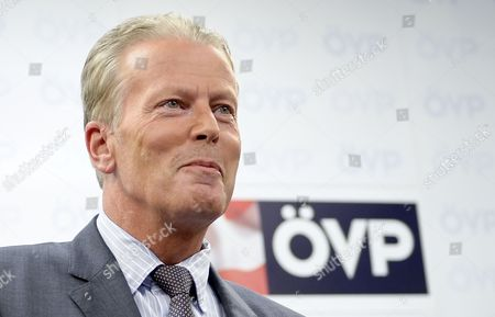 Stock Photo of Austrian Minister of Economy Family and Youth Reinhold Mitterlehner During a Press Conference in Vienna Austria 26 August 2014 Mitterlehner Followed Michael Spindelegger in His Function As the Leader of the Austrian People's Party (oevp) Austria Vienna