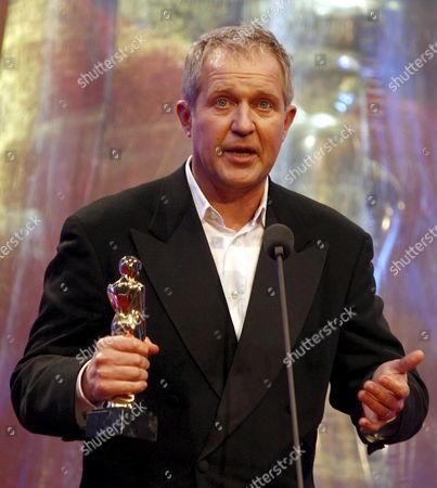 Austrian Actor Harald Krassnitzer Holds His Award at the Romy Gala 2008 in Vienna Austria 12 April 2008 Austria Vienna