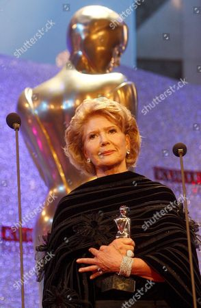 Austrian Actress Christiane Hoerbiger Receives the Platinum Honorary Award in Appreciation of a Life's Career During the Romy Gala 2009 in Vienna's Hofburg Austria 25 April 2009 Austria Vienna