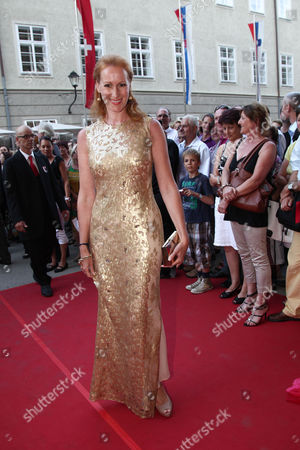 Actress Nicole Beutler Arrives at the Premiere of the Opera 'La Boheme' As Part of the Salzburg Festival in Salzburg Austria 01 August 2012 Austria Salzburg