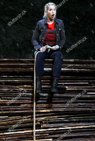 Mojca Erdmann Aka 'Zelmira' Performs During a Photo Call of Armida in Salzburg Austria 24 July 2007 the Act Will Premiere on 28 July 2007 During the Salzburg Festivals Austria Salzburg