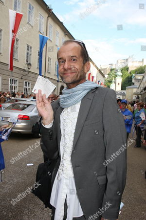 A Picture Dated 25 July 2009 Shows Comedian Georg Uecker Arriving For the Premiere of Georg Friedrich Handel's 'Theodora' As Part of the 2009 Salzburg Festival in Salzburg Austria the Festival Runs Until 30 August 2009 Austria Salzburg