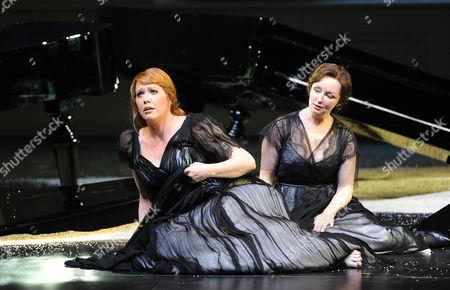 Emily Magee (ariadne/l ) and Regina Fritsch (ottonie/dorine) During the Rehearsal For the Opera 'Ariadne Auf Naxos' in Salzburg Austria 25 July 2012 Austria Salzburg