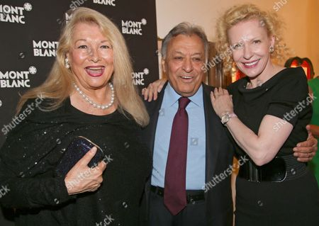 Nancy Kovack (l) Wife of Zubin Metha Indian Conductor Zubin Methan (c) and German Actress Sunnyi Melles (r) and Her Daugther Leonille Arrive For the Party of the Young Directors Project (ydp) Premiere Given by Festival Sponsor Mont Blanc During the Salzburg Festival in Salzburg Austria 30 July 2013 the Festival Runs Until 01 September Austria Salzburg