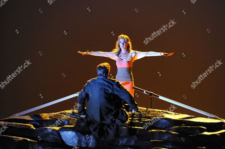 A Picture Dated 23 July 2010 Shows German Baritone Johannes Martin Kraenzle and German Soprano Mojca Erdmann Performing During the Photo Rehearsal of the Opera 'Dionysus' in Salzburg Austria the Opera by Wolfgang Rihm Will Premiere at the Haus Fuer Mozart on 27 July As Part of the Salzburg Festival That Runs From 25 July to 30 August Austria Salzburg