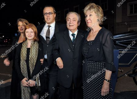 A Picture Dated 25 July 2010 Shows Austrian Actor and Cast Member Nicholas Ofczarek (c) Posing with His Parents Former Opera Singer Klaus and Roberta (r) Ofczarek and His Wife Actress Tamara Metelka (l) and Their Daughter at the Party After the Premiere of Hugo Von Hofmannsthal's 'Jedermann' in Salzburg Austria the Piece Premiered As Part of the Salzburg Festival That Runs From 25 July to 30 August Austria Salzburg