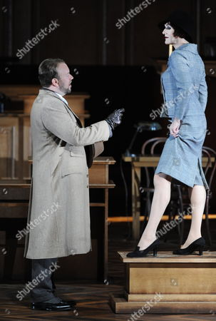 Cast Members Johan Reuter (l) As 'Jaroslav Prus' and Angela Denoke As 'Emilia Marty' Perform During a Rehearsal of Leos Janacek's Opera 'Vec Makropulos (the Makropulos Affair)' at the Grosses Festspielhaus (large Festival Hall) in Salzburg Austria 05 August 2011 the Opera Production Will Premiere As Part of the Salzburg Festival on 10 August Austria Salzburg
