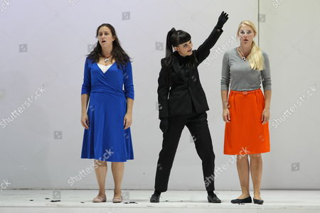 A Picture Made Available on 29 July 2011 Shows From (l-r) Mezzo-soprano Michele Losier As Dorabella Austrian-english Soprano Anna Prohaska As Despina and Swedish Soprano Maria Bengtsson As Fiordiligi Performing During a Rehearsal of the Opera 'Cosi Fan Tutte (thus Do They All)' by Wolfgang Amadeus Mozart in Salzburg Germany 28 July 2011 the New Opera Production of 'Cosi Fan Tutte' Will Be Premiere on 05 August 2011 Austria Salzburg