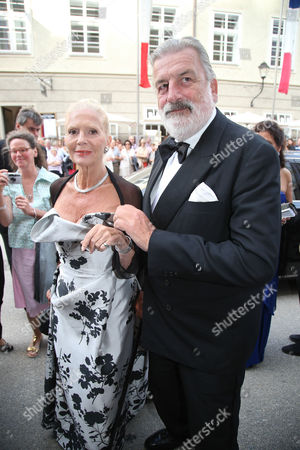 Austrian Actress Christiane Hoerbiger (l) and Gerhard Toetschinger (r) Arrive For the Opera Premiere of 'Der Rosenkavalier' (the Knight of the Rose) at the Salzburg Festival 2014 in Salzburg Austria 01 August 2014 the 94th Salzburg Festival Runs Until 31 August Austria Salzburg