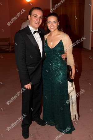 Italian Tenor Francesco Meli (l) and His Wife Serena Meli (r) Pose For Photographs After the Premiere of the Opera 'Il Trovatore' (the Troubadour) at the Grosses Festspielhaus (large Festival Hall) in Salzburg Austria 09 August 2014 the 94th Annual Salzburg Festival Runs From 18 July to 31 August Austria Salzburg