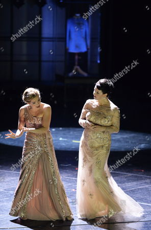 A Picture Made Available on 27 July 2014 Shows German Actress Alexandra Henkel (l) and Austrian Actress Petra Morze (r) Performing During a Rehearsal of Austrian Playwright Karl Kraus' 'Die Letzten Tage Der Menschheit' (the Last Days of Mankind) at the Landestheater in Salzburg Austria 26 July 2014 the New Production Will Premiere on 29 July As Part of the Salzburg Festival That Runs From 18 July to 31 August Austria Salzburg