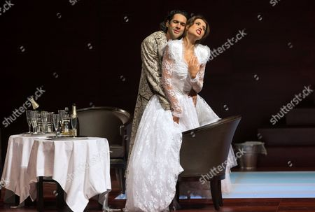 A Picture Made Available on 25 July 2014 Shows Italian Bass-baritone Ildebrando D'arcangelo (l) As 'Don Giovanni' and Romanian Soprano Valentina Nafornita (r) As 'Zerlina' Performing During a Rehearsal of Wolfgang Amadeus Mozart's 'Don Giovanni' During the Salzburg Festival 24 July 2014 in Salzburg Austria the Opera Production Will Premiere on 27 July at the Festival That Runs From 18 July to 31 August Austria Salzburg