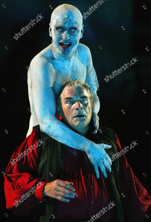 Actors Peter Simonischek (front) and Jens Harzer Are Pictured During the Dress Rehearsals of Hugo Von Hofmannsthal's 'Jedermann' ('everyman') During the Salzburg Theater Festival Late Tuesday 22 July 2003 Austria out Epa Photo/apa/hans Klaus Techt Austria Salzburg