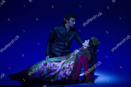 A Picture Made Available on 14 August 2013 Shows Jonas Kaufmann (back) As 'Don Carlo' and Anja Harteros As 'Elisabetta Di Valois' Performing During a Photo Rehearsal of the Opera 'Don Carlo' As Part of the Salzburg Festival 2013 in Grosses Festspielhaus in Salzburg Austria 08 August 2013 Austria Salzburg