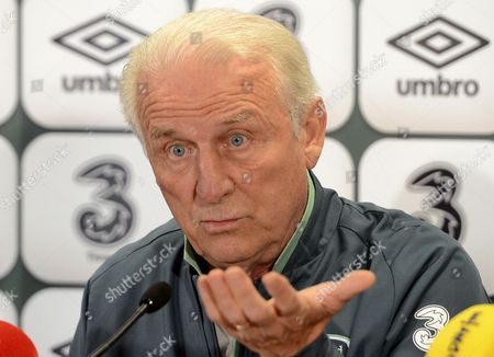 Head Coach of Ireland Giovanni Trapattoni Speaks During a Press Conference in Vienna Austria 09 September 2013 Ireland Plays Against Austria in a Fifa World Cup 2014 Qualification Match in Vienna on 10 September 2013 Austria Vienna