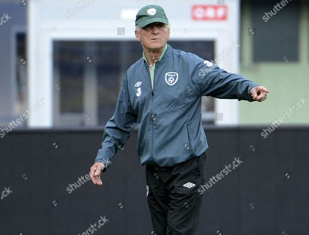 Head Coach of Ireland Giovanni Trapattoni Gestures During a Training Session in Vienna Austria 09 September 2013 Ireland Plays Against Austria in a Fifa World Cup 2014 Qualification Match in Vienna on 10 September 2013 Austria Vienna