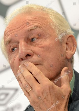 Head Coach of Ireland Giovanni Trapattoni Gestures During a Press Conference in Vienna Austria 09 September 2013 Ireland Plays Against Austria in a Fifa World Cup 2014 Qualification Match in Vienna on 10 September 2013 Austria Vienna
