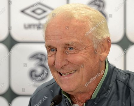 Head Coach of Ireland Giovanni Trapattoni Smiles During a Press Conference in Vienna Austria 09 September 2013 Ireland Plays Against Austria in a Fifa World Cup 2014 Qualification Match in Vienna on 10 September 2013 Austria Vienna