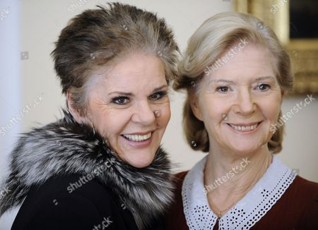Austrian Actresses Maresa Hoerbiger (l) and Christiane Hoerbiger Pose at a Photocall During the Filming of Their Television Movie 'Meine Schwester' in Vienna Austia 07 March 2011 Austria Vienna