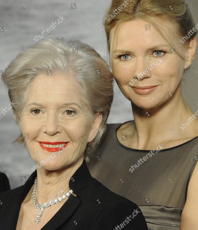 Stock Photo of Austrian Actress Christiane H÷rbiger (l) in the Role of Margarete K?mmerer and German Actress Veronica Ferres (r) in the Role of Sylva Burian During a Photocall For the Novel Adaptation 'Die Lange Welle Hinterm Kiel' (the Long Wave Behind the Keel) at the Filmstadt Wien in Vienna Austria 10 November 2010 the Novel was Written by Czech-austrian Novelist Pavel Kohout Austria Vienna