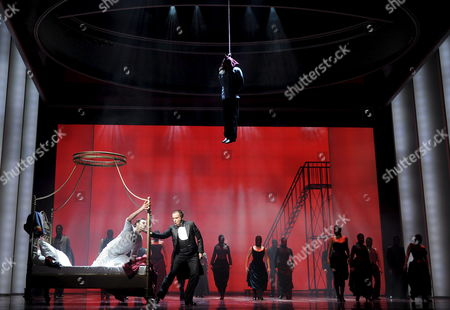 A Photo Dated 18 February 2009 Shows (l-r) Drew Sarich As Rudolf and Uwe Kroeger As Eduard Graf Taaffe During the Dress Rehearsal of the Musical 'Rudolf - Affaire Mayerling' in Raimund Theater in Vienna Austria the Piece Premiered 26 February 2009 This New Historical Musical Tells the Tragic Tale of the Life of Crown Prince Rudolf and His Love of Mary Vetsera the German Script was Inspired by Jewish Austrian Writer Frederik Morton's Novel 'A Nervous Splendor' and the Score is by Us Composer Frank Wildhorn Austria Vienna