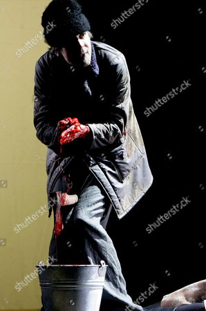 Jens Harzer As Raskolnikov on Stage During the Rehearsal of 'Crime and Punishment' in Salzburg Austria 23 July 2008 Adapted From the Novel by Russian Author Fyodor Dostoevsky the Play Will Premiere at the Landestheater on 26 July As Part of the Salzburger Festpspiele (salzburg Festival) Austria Salzburg