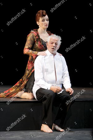 A Picture Made Available 30 May 2008 Shows Actors Regina Fritsch As Herzogin Von Gloster and Martin Schwab As Herzog Von Gloster Performing During a Photo Rehearsal of William Shakespeare's Play 'Die Rosenkriege' (wars of the Roses) at Vienna's Burgtheater Austria 26 May 2008 the Play Directed by German Stephan Kimmig Had Its Premiere on 29 May Austria Vienna