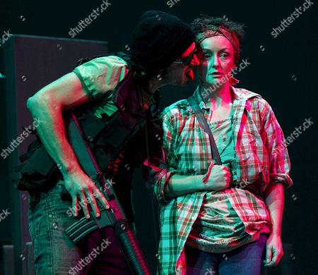 Daniel Jesch and Regina Fritsch During the Photo Rehearsal of Wajdi Mouawad's 'Verbrennungen' (burnings) at the Academy Theatre in Vienna Austria 26 September 2007 the Premiere Took Place on 28 September Austria Vienna