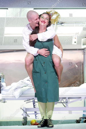 Actors Raphael Von Bergen (r) and Claudia Sabitzer As 'Tochter Des Trollkoenigs' Perform During a Rehearsal of Henrik Ibsen's 'Peer Gynt' Directed by Michael Sturminger at the Volkstheater in Vienna Austria 02 September 2008 'Peer Gynt' Will Premiere on 05 September 2008 Austria Vienna