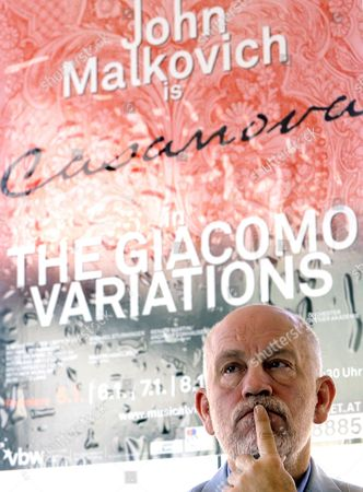Us Actor John Malkovich Attends a Press Conference For His Performance As Giacomo Casanova in the Chamber-opera Play 'The Giacomo Variations' in Vienna Austria 13 September 2010 'The Giacomo Variations' by Austrian Director Michael Sturminger Based on a Autobiography of the 18th Century Will Be Staged at the Ronacher Theater in Vienna From 05 to 09 January 2011 Austria Vienna