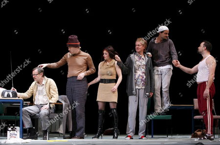 The 'People' (from Left) Michael Wittenborn Nicholas Ofczarek Regina Fritsch Peter Wolfsberger Simon Eckert Und Juergen Maurer During the Dress Rehearsal For William Shakespeare's 'Measure For Measure' at the Burgtheater in Vienna 26 April 2007 the Premiere Will Be on 28 April 2007 Austria Vienna