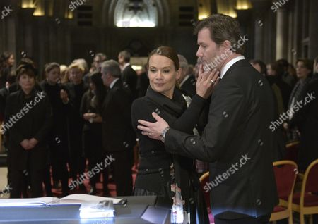 Jenny (l) and John Juergens the Daughter and Son of Late Austrian Entertainer Udo Juergens Attend the Funeral Ceremony For Their Father in Vienna Austria 22 January 2015 Juergens Died on 21 December 2014 of Acute Heart Failure in Muensterlingen Switzerland at the Age of 80 Austria Vienna