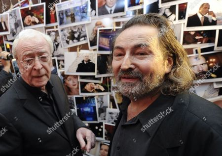 Stock Picture of Festival Director Hans Hurch (r) Welcomes British Actor Michael Caine (l) at the Gartenbau-cinema During the 50th Viennale - Vienna International Film Festival in Vienna Austria 26 October 2012 the Festival Runs From 25 October to 07 November Austria Vienna