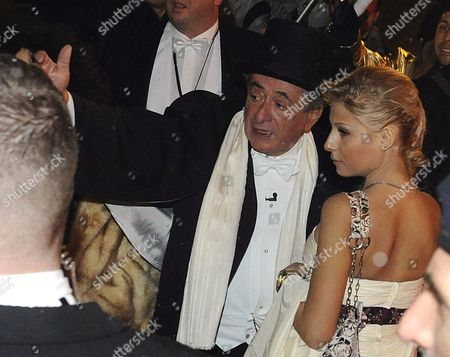 Austrian Entrepreneur Richard Lugner (c) and Anastasia 'Katzi' Sokol (r) Arrive at the Vienna State Opera Ball in Vienna Austria 11 February 2010 Austria Vienna