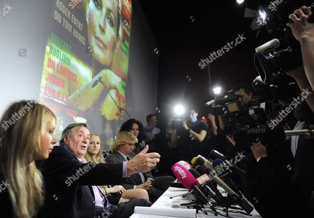 Austrian Businessman Richard Lugner (2-l) His Girlfriend Anastasia 'Katzi' Sokol (l) His Daughter Jaqueline (c) His Ex-wife Christina 'Mausi' Lugner (r) and Event Manager Helmut Werner (2-r) Attend a Press Conference in Vienna Austria 15 February 2011 to Announce Lugner's Star Guest For the Upcoming Vienna Opera Ball Lugner's Guest Will Be Us Actress Bo Derek the Vienna Opera Ball Will Take Place on 03 March Austria Vienna