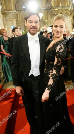 Austrian Model Larissa Marolt (r) and Partner Whitney Sudler-smith Attend the Vienna Opera Ball at the Wiener Staatsoper (vienna State Opera) in Vienna Austria 12 February 2015 Austria Vienna