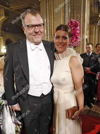 Austrian Film Director Stefan Ruzowitzky and His Wife Birgit Pose For Photographers Prior to the Opera Ball at the Vienna State Opera in Vienna Austria 07 February 2013 Austria Vienna