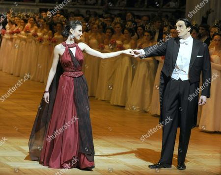 Moldovan Sopranp Valentina Nafornita (l) and Czech Bass-baritone Adam Plachetka Perform During the Opening Ceremony of the Opera Ball at the Vienna State Opera in Vienna Austria 07 February 2013 Austria Vienna