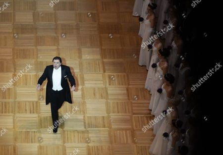 Canadian Tenor Michael Schade Performs During the Opening Ceremony of the Vienna Opera Ball at the State Opera in Vienna Austria 27 February 2014 Austria Vienna