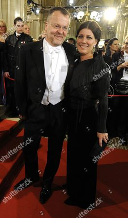 Austrian Filmmaker Stefan Ruzowitzky and Wife Birgit Arrive For the Vienna Opera Ball at the State Opera in Vienna Austria 27 February 2014 Austria Vienna