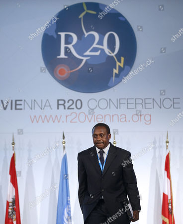Kandeh Yumkella Director General of the United Nations Industrial Development Organization (unido) Speaks at the 'Vienna R20 Conference' in Vienna Austria 31 January 2013 the Conference Aims to Demonstrate That the Transformation of the Energy System at Sub-national Level is an Essential Step Towards the Green Economy Paradigm Shift Austria Vienna