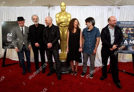 Directors of the Five Oscar-nominated Foreign Films (l-r) Jacques Audiard of France Michael Haneke of Germany Yaron Shani of Israel Claudia Llosa of Peru Scandar Copti of Israel and Juan Jose Campanella of Argentina Pose For Photographs During a Photo Opportunity For the 82nd Annual Academy Awards in Los Angeles California Usa 05 March 2010 United States Los Angeles