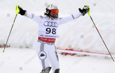 Prince Hubertus Von Hohenlohe of Mexico After His Run in the Final Leg of the Men's Slalom at the Alpine Skiing World Championships in Beaver Creek Colorado Usa 15 February 2015 United States Beaver Creek